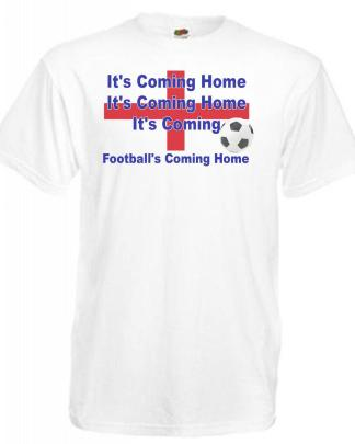 Footballs Coming Home England Euro Supporters Football T-Shirt