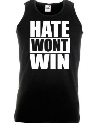 Hate Wont Win. Stop Online Abuse Unisex Anti Racism Vest