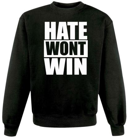 Unisex Hate Wont Win Stop Online Abuse Anti Racism Jumper Sweater