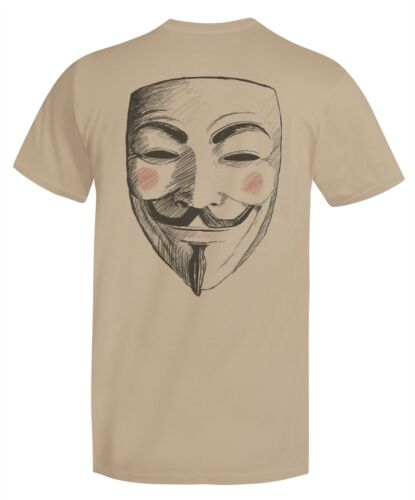 Anonymous Quote T-Shirt & FREE Vendetta Mask backside