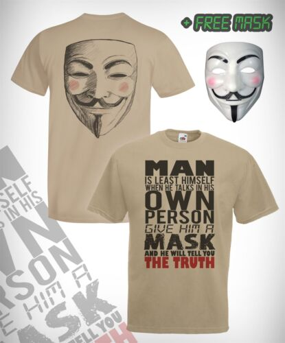 Anonymous Quote T-Shirt & FREE Vendetta Mask kit