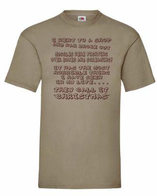 Muggle Christmas Xmas Khaki T-Shirt