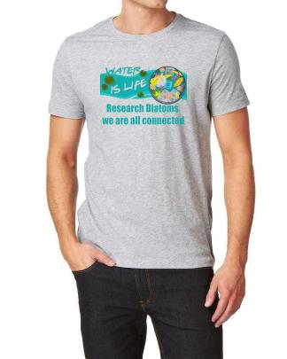 Water Is Life We Are Connected Research Diatoms Grey T-Shirt