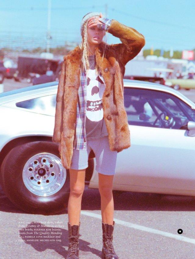 frida-aasen-estilo grunge inverno 2014 camisa xadrez shoot5