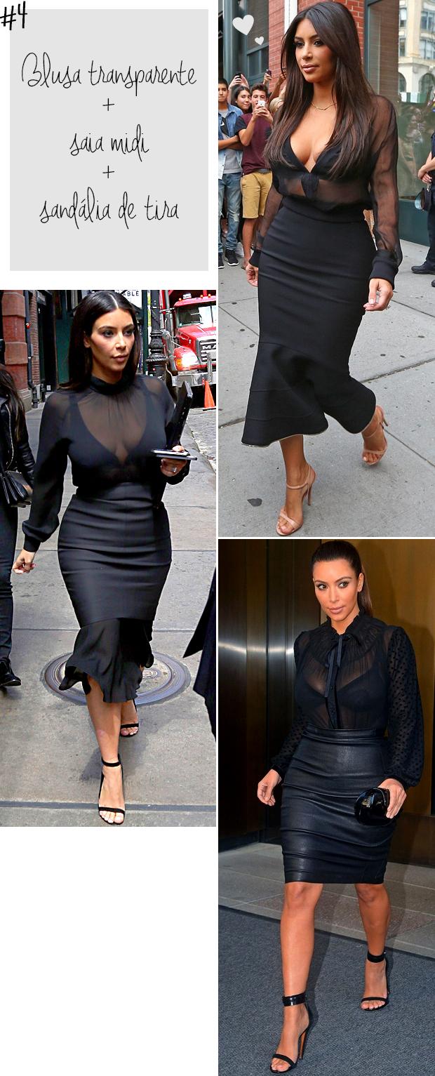kim kardashian blusa transparente saia lápis preto blog got sin -