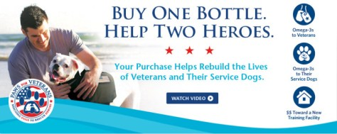 Paws for Veterans and Nordic Naturals
