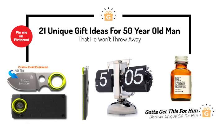 unique Gift Ideas For 50 Year Old Man