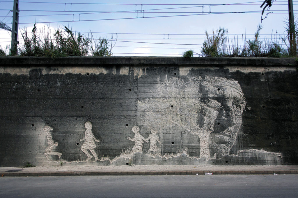 Photo journal Portuguese street artist Vhils  GKM  GKM