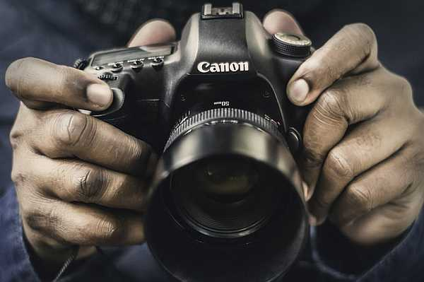 Canon camera with 50 mm lens
