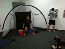 Catching ping pong balls like a ninja