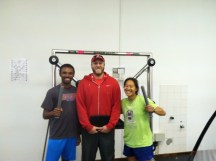 Kahlil and Grant. Behind us is my nemesis, the Batak Pro - difficult for vertically challenged refs.