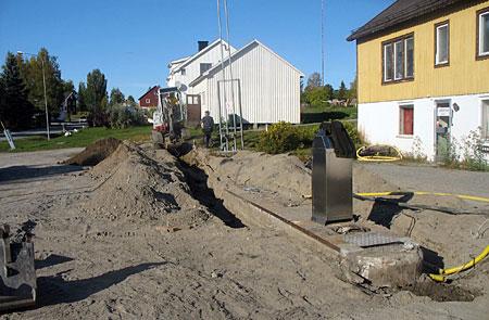 Grävning pågår 081005
