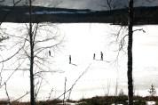 Bodgärdssjöns is ligger ännu kvar, men hur länge?