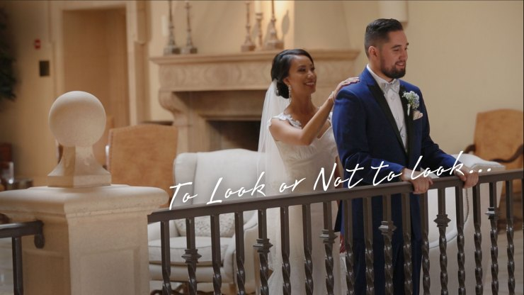 Wedding Couple seeing each other for the first time