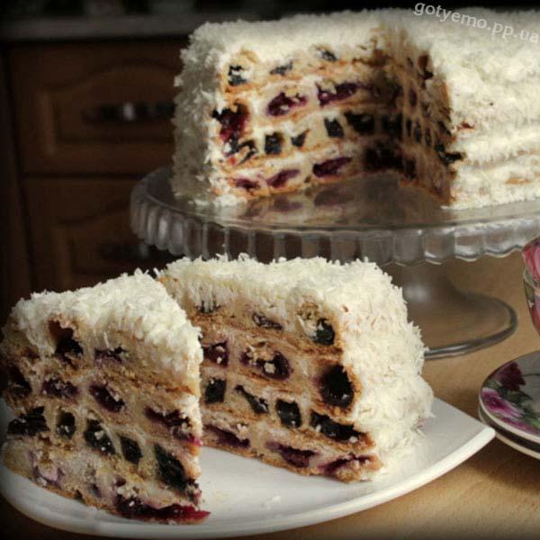 """торт """"вишня під снігом"""""""