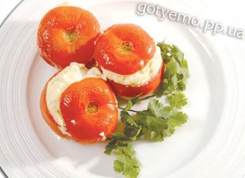 Печені помідори фаршировані сиром