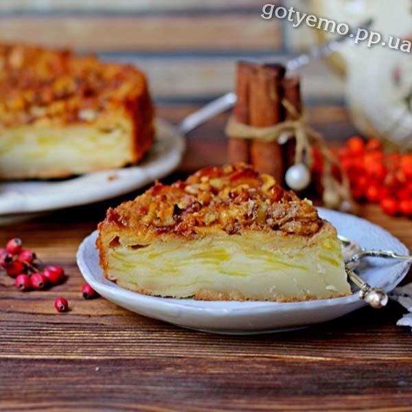 рецепт яблучного пирога під назвою невидимий