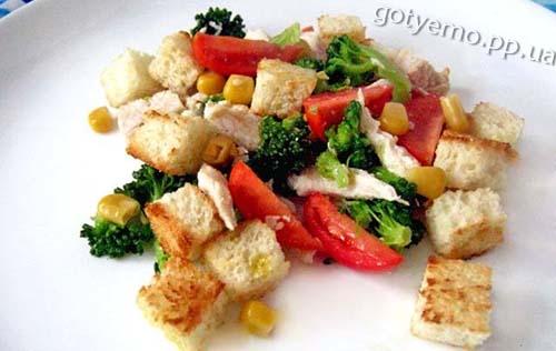 Рецепт салату з куркою і броколі