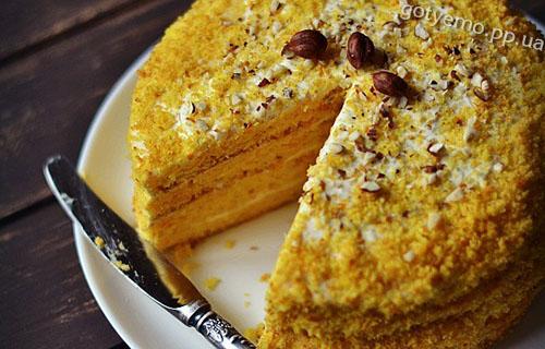 Гарбузово-апельсиновий торт