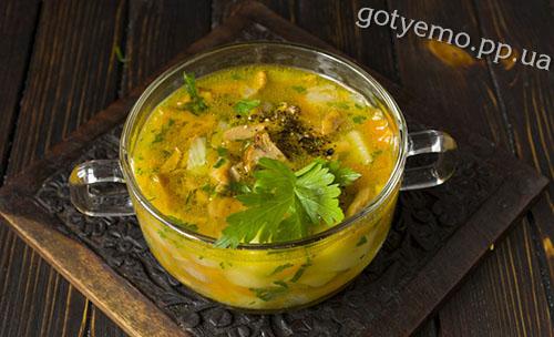 Рецепт грибного супу з лисичками