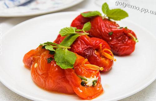 рецепт рулетиків з болгарського перцю