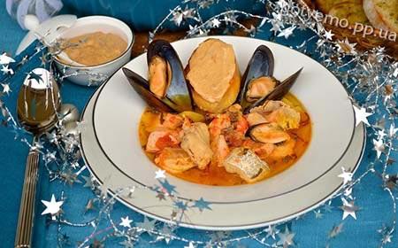 рецепт супу буйабес
