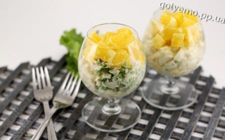 рецепт салату з куркою і апельсином