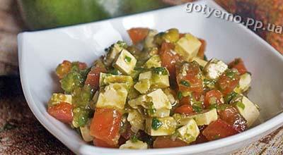 рецепт салату з помідорами і авокадо