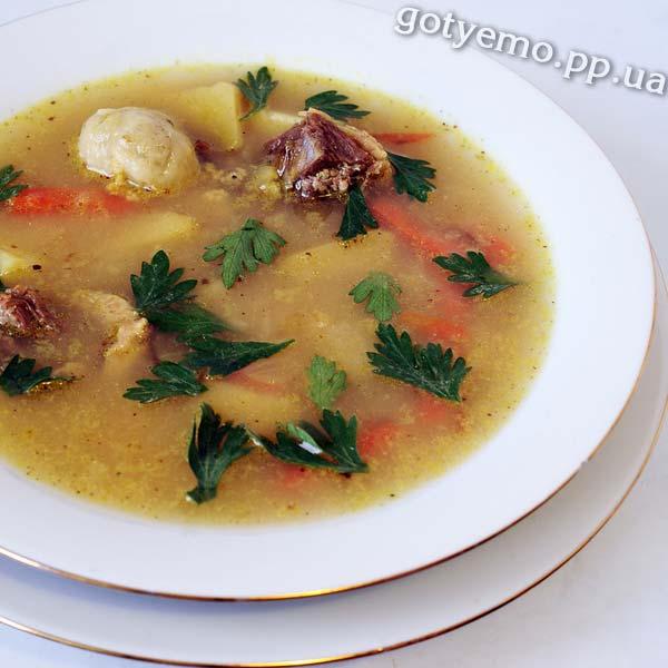 Суп із гускою та галушками
