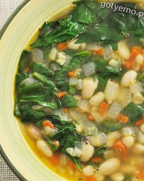 Суп зі шпинатом і квасолею