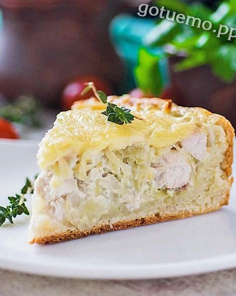 пиріг з куркою і картоплею