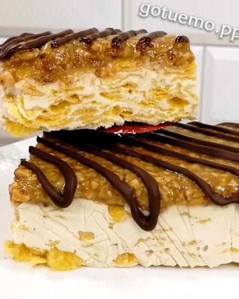 Торт з кукурудзяних пластівців