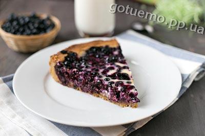 фінський пиріг з чорницею