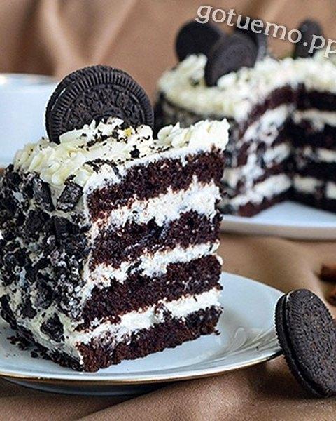 шоколадний торт орео з печивом