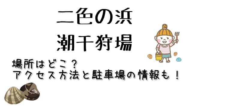 大阪府に位置する二色の浜潮干狩り場のアクセス方法などについてご紹介しています