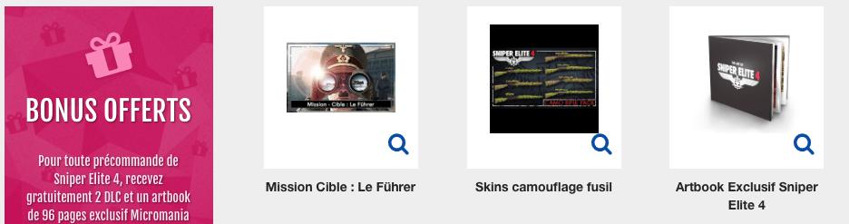 DLC micromania Sniper Elite 4
