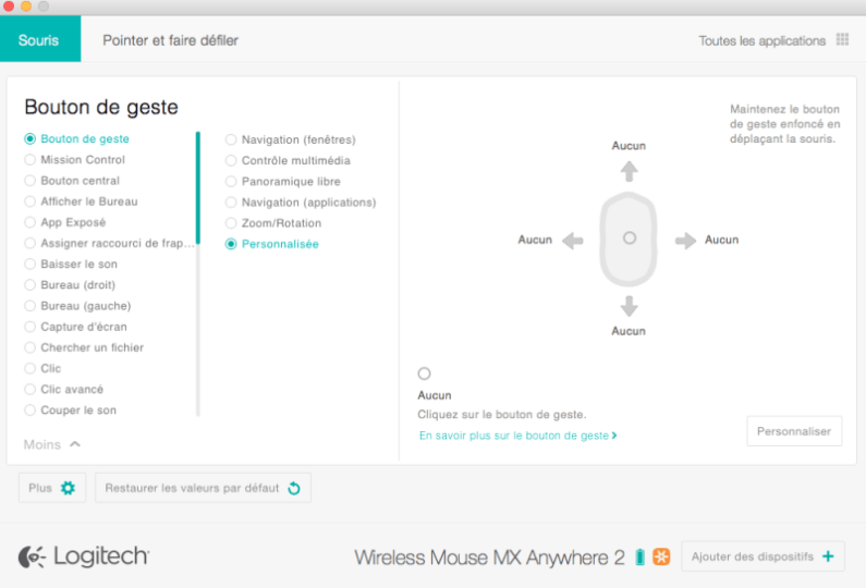 souris MX anywhere 2 config 6