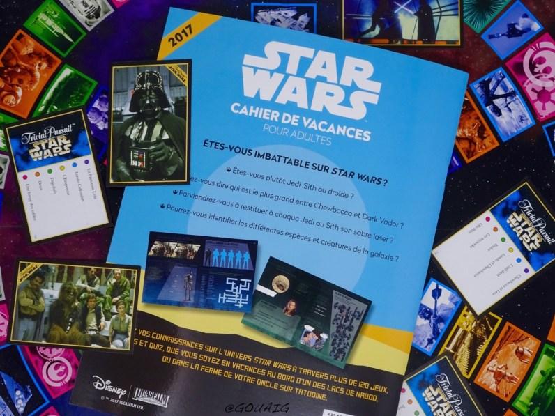 Un cahier de vacances rempli de questions Star Wars