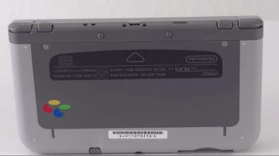 New Nintendo 3DS XL SNES Edition dessous
