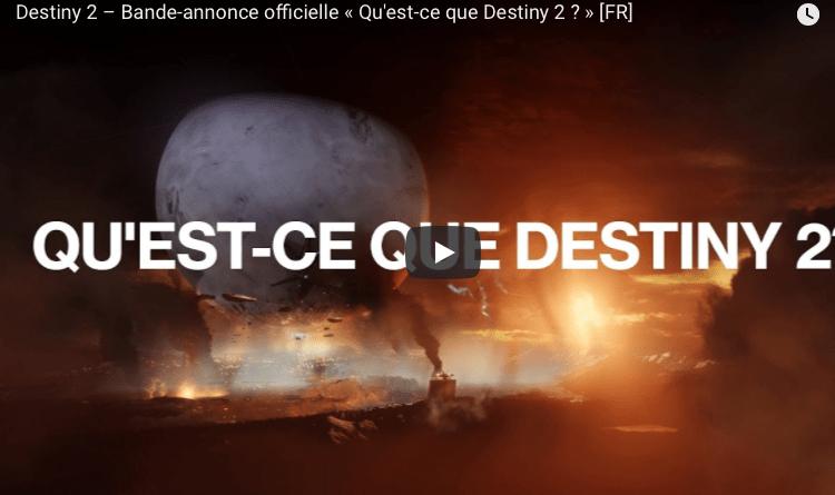 Présentation destiny 2
