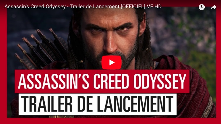 Assassin's creed Odyssey Trailer lancement