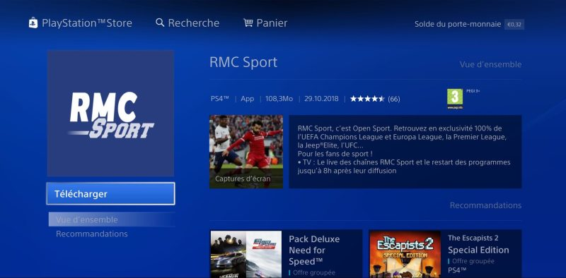 RMC Sport PS4