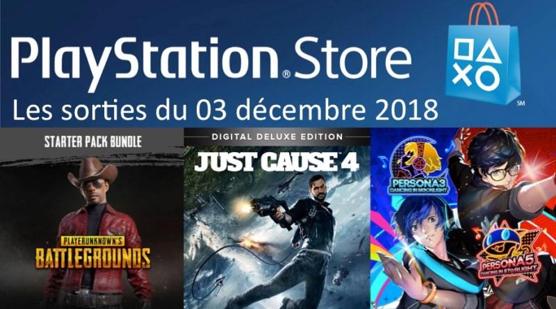 MAJ Playstation Store 03 décembre