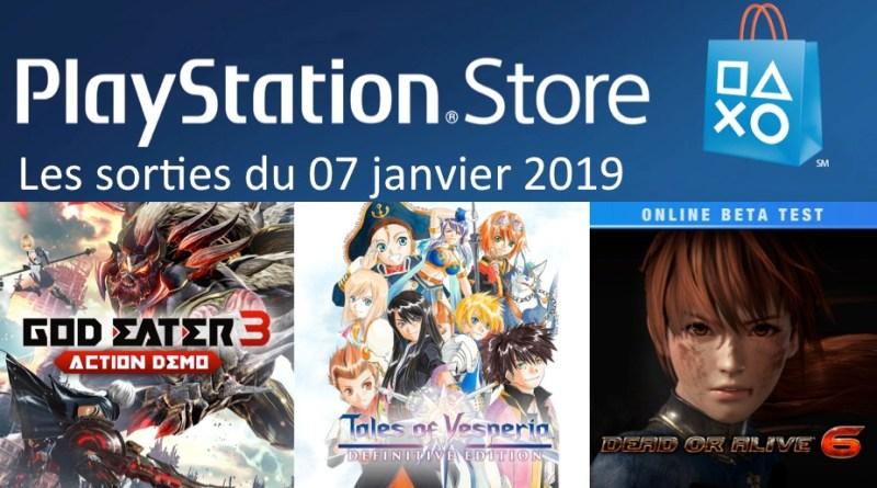 MAJ Playstation Store 07 janvier