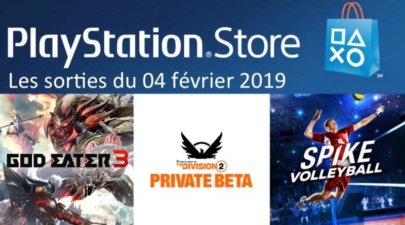 MAJ Playstation Store 04 février