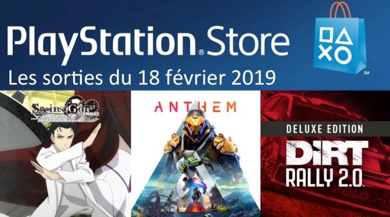 MAJ Playstation Store 18 février