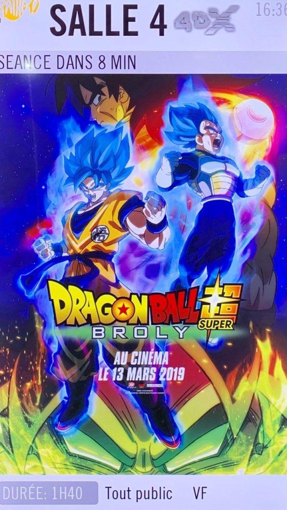 Avis Dragon Ball Super Broly VF et 4DX - Gouaig - 1