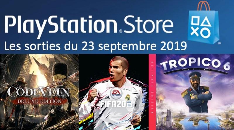 MAJ Playstation Store 23 septembre