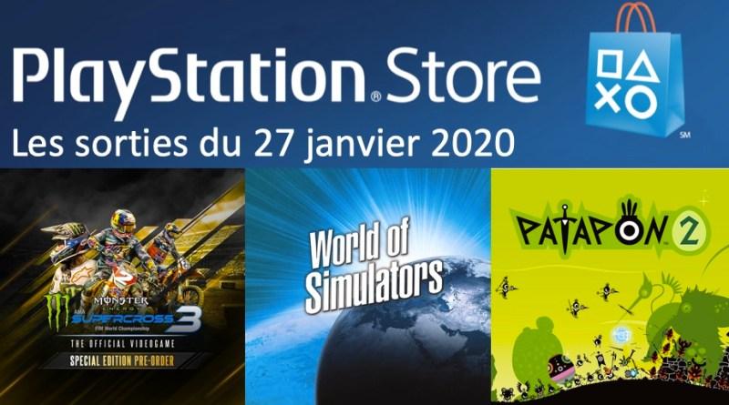 MAJ Playstation Store 27 janvier