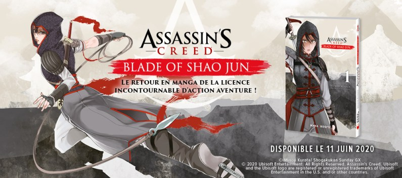 Manga Assassin's Creed Blade of Shao Jun - gouaig